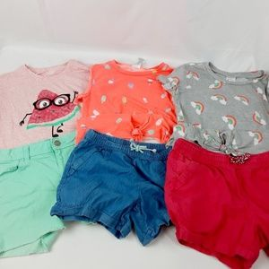 😍Wonder Nation Tshirt & Shorts Sets size 10